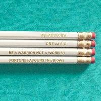 Inspirational Quote Pencil Set