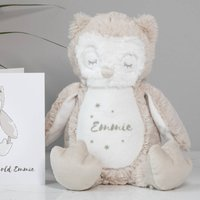 Personalised Baby Owl Soft Toy