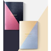 Set Of Two Geometric Pocket Notebooks