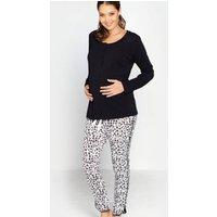Black And White Maternity/Breastfeeding Pyjamas