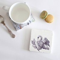Mute Swan Natural Stone Coaster
