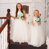 Francis ~ Flower Girl In White Or Ivory, White