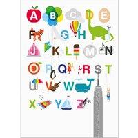 Illustrated Alphabet Postcard
