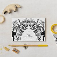 Animal Birth Announcement Or Invitation Cards