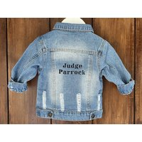 Baby/Toddler Denim Jacket With Embroidered Name