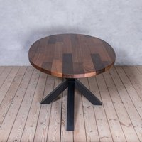 Clyde Walnut Solid Wood Round Dining Table