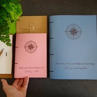 Personalised Travel And Adventure Leather Journal Diary