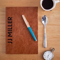 Leather Notebook, Personalised And Hand Made