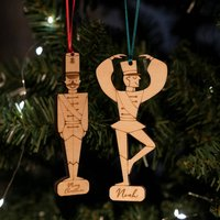 Personalised His And His Christmas Decorations