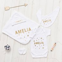 Personalised New Baby Stars Gift Set