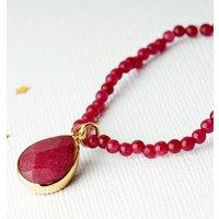 Red Jade Gemstone Charm Bracelet