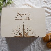 Personalised Memory Box With Compass Design