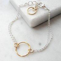 Rolled Gold Circles Bracelet, Gold