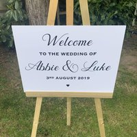 Personalised Welcome To The Wedding Of Sign