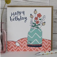 Pack Of Four Female Birthday Greetings Cards