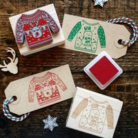 Christmas Jumper Rubber Stamps