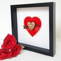 I Love You Heart 3D Couple Valentine Artwork