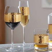 Eighteen Piece Feuille D'or Glassware Gift Set