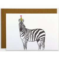 Zebra Party Animal Card