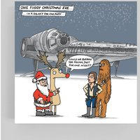 Star Wars Millennium Falcon Christmas Cards