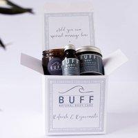 Personalised Body Refresh And Rejuvenate Pamper Box, White/Black