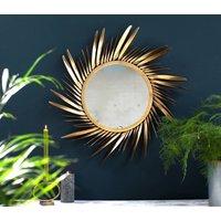 Gold Feathered Sunburst Mirror