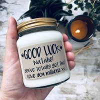 Personalised Good Luck Scented Soy Candle