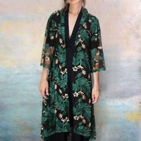 Bonnie Jacket In Pine Forest Embroidered Lace