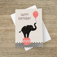 'Happy Birthday' Elephant Card