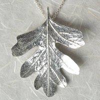 Hawthorn Leaf Necklace, Leaf Jewellery