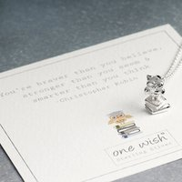 Wise Owl Sterling Silver Graduation Necklace, Silver