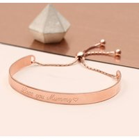 Personalised Silver Or 18ct Gold Curved Slider Bracelet, Silver