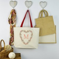 Personalised Initial Heart Shopping Bag