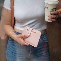 'Pink Skies Ahead' Travel Wallet