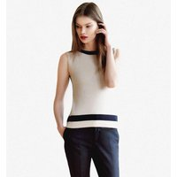 Womens Monochrome Top In Silk And Cashmere