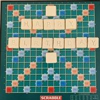 Happy Birthday Letter Tiles Scrabble Biscuit Gift Box
