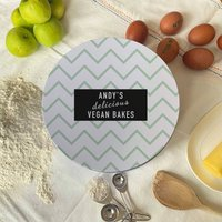 Personalised Zig Zag Cake Tin