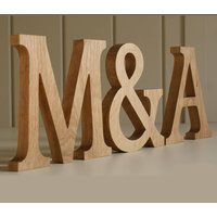 Wooden Letters Traditional Oak, Red