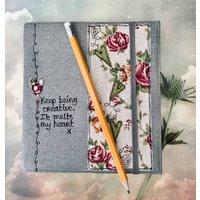 Personalised Linen Journal/Sketchbook