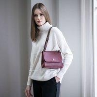 Womens Luxury Leather Chain Crossbody Handbag Perano