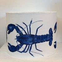 Blue Lobster Cornwall Handmade Shade