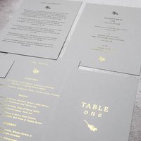 Modern Gold Foil Wedding Invites