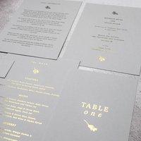 Modern Gold Foil Wedding Invites