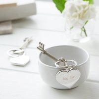 Engraved Big Sis Keyring With Chocolate Gift Set