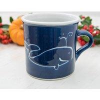 Handmade Porcelain Whale Tea Mug
