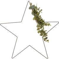 Pre Lit Star Wreath With Eucalyptus