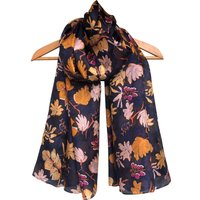 Large Evening Leaves Pure Silk Scarf