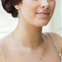 Stella Halo Charm Bridal Pendant