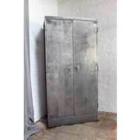 Marco Vintage Stripped Steel Stationery Cupboard