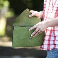 Personalised Womens Envelope Clutch Bag